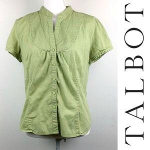 Talbots Petites Light Green Womens Top sz L